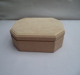 Cadence_MDF nyolcszögletes hosszúkás doboz_ KT17 17,5*12,5*7cm