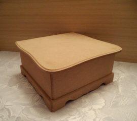 cadence MDF KT-45 nagy négyszögletes teás doboz 23*21*10cm
