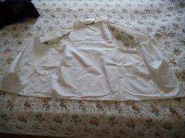 décorálható textil kötény fehér