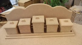 Cadence MDF füszer tartó dobozok polccal  BH-02 42*10*7cm