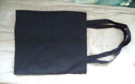 Cadence nagy textil táska fekete  41*41cm