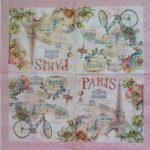 szalvéta 12D Paris Forever