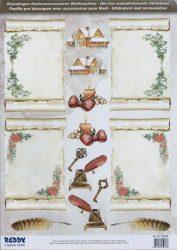 3D karácsonyi  képeslapok  Die-Cuts 85038