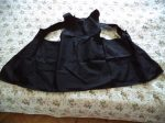 décorálható textil kötény fekete
