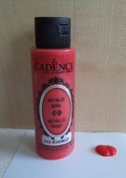 Cadence metal festék 215 vörös  70ml