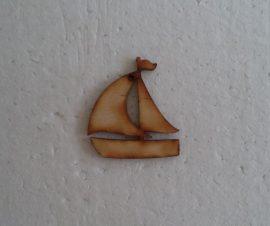 fa vitorlás hajó 5*4cm 1db 3555