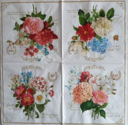 szalvéta 12B_flowers bouquet