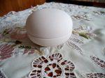 gömb formájú fehér kerámia bobbonier 8,5*8,5cm