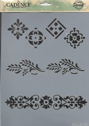 cadence stencil sablon série A4   AS-413 21*29