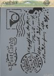 cadence stencil sablon série A4  AS472  21*29