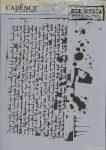cadence stencil sablon série A4   MA-02 21*29