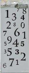 cadence stencil sablon série MU-58  25*10cm