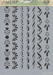 cadence stencil sablon série A4   AS-402 21*29