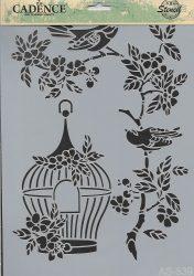 cadence stencil sablon série A4   AS-539 21*29