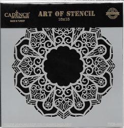 cadence stencil sablon dekoratív  kollekció DCS-002 15*15cm
