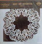 cadence stencil sablon dekoratív  kollekció DCS-008 15*15cm