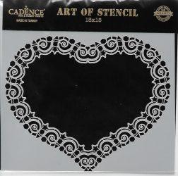 cadence stencil sablon dekoratív  kollekció DCS-010 15*15cm