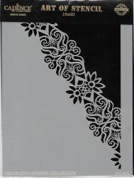 cadence stencil sablon dekoratív  kollekció DC-032 15*20cm