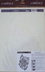 cadence transfer matrica csipkés fehér 25*35cm  DT-013