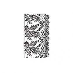 cadence transfer matrica csipkés fehér 17*25cm  DT-011