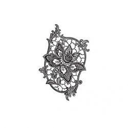 cadence transfer matrica csipkés fehér 17*25cm  DT-015